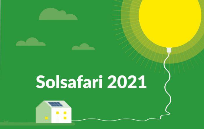Dekorativ bild. Solsafari 2021